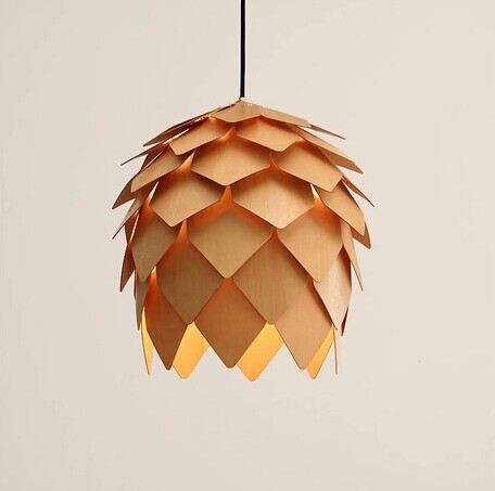 NEW Drop light  American Country Style Hanging Lamp Natural Wood Makes Modern Pendant Lamp Vintage Wood Droplight Free Shipping