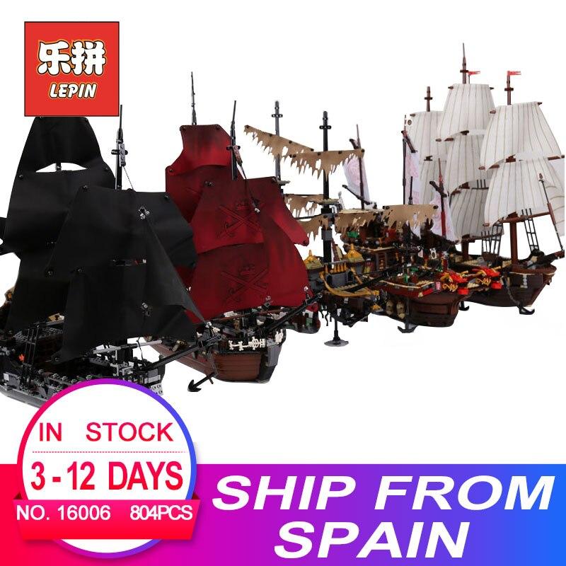 Lepin pirates des caraïbes 16006 16009 Noir Perle bateau 16016 22001 06057 LegoINGlys 4195 70618 modèle kits de construction blocs