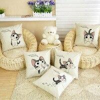 12 arten Beliebte Chi Sweet Home kissen nette katze gedruckt sitz stuhl hause dekorative kissen platz 45x45 cm kissen fall 1 pc