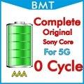 10 pçs/lote completa original genuine 0 mah bateria de ciclo de zero para iphone 5 5g 1440 3.7 v mfr para sony core bmti5g0btaaa