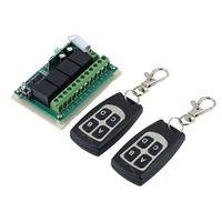 Wholesale 1pcs Wireless 12V 4CH 200M Remote Control Relay Switch Transceiver Receiver Drop Shipping