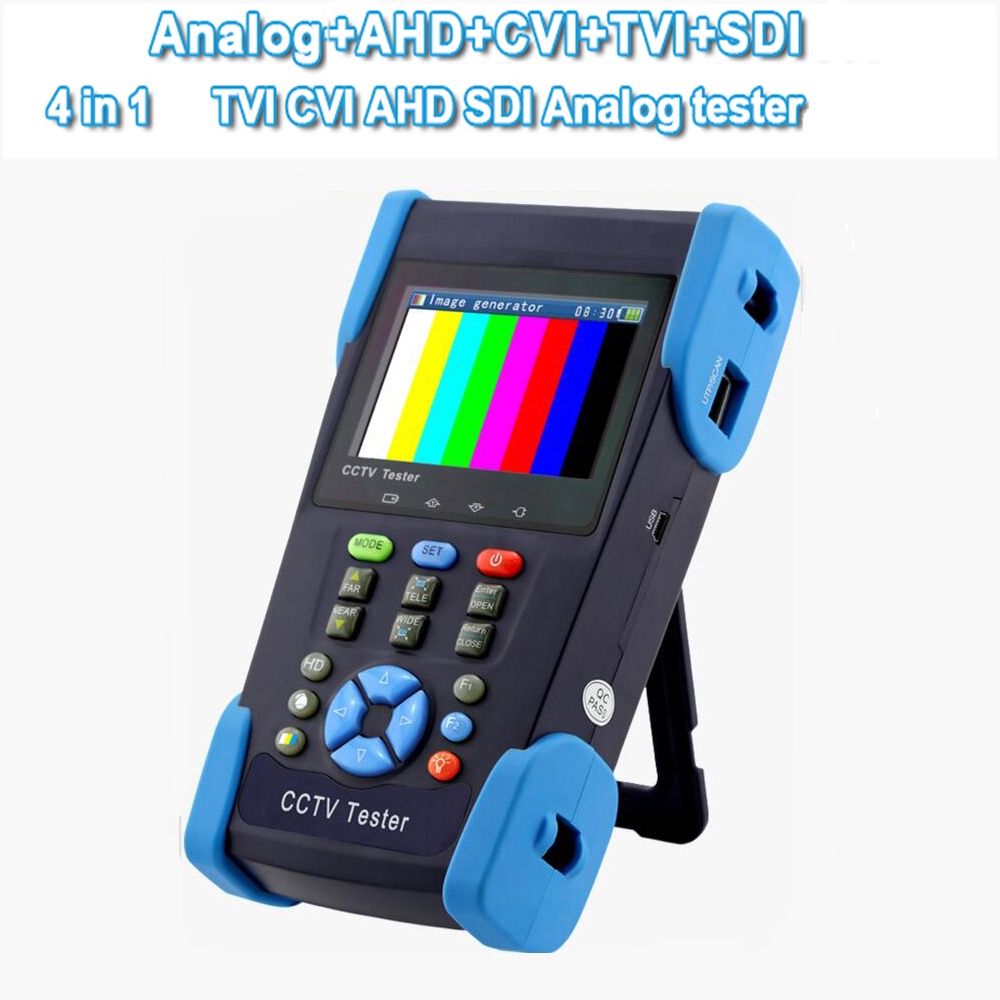 CCTV Tester support HD Camera TVI CVI AHD SDI 3.5inch LCD 5in1 HD Coaxial Tester miniature size 6 in 1 1080p waterproof bullet mini camera support ahd tvi cvi cvbs hd sdi ex sdi for bank army prison