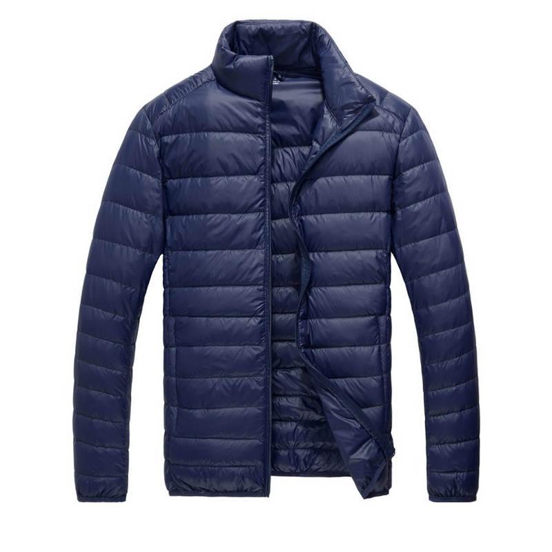 2018 Herbst Winter Ente Unten Jacke Ultra Licht Männer 90% Mantel Wasserdichte Downfashion Herren Kragen Oberbekleidung Mantel Die Neueste Mode