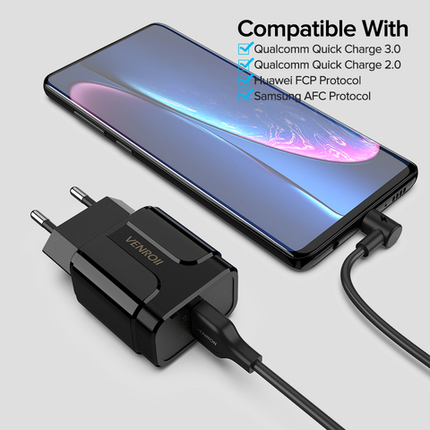 5V 3A Universal 18W USB Quick Charge 3.0 for Huawei Xiaomi EU US Wall Adapter Android Mobile Phone Fast Charger for Samsung S10 Karachi
