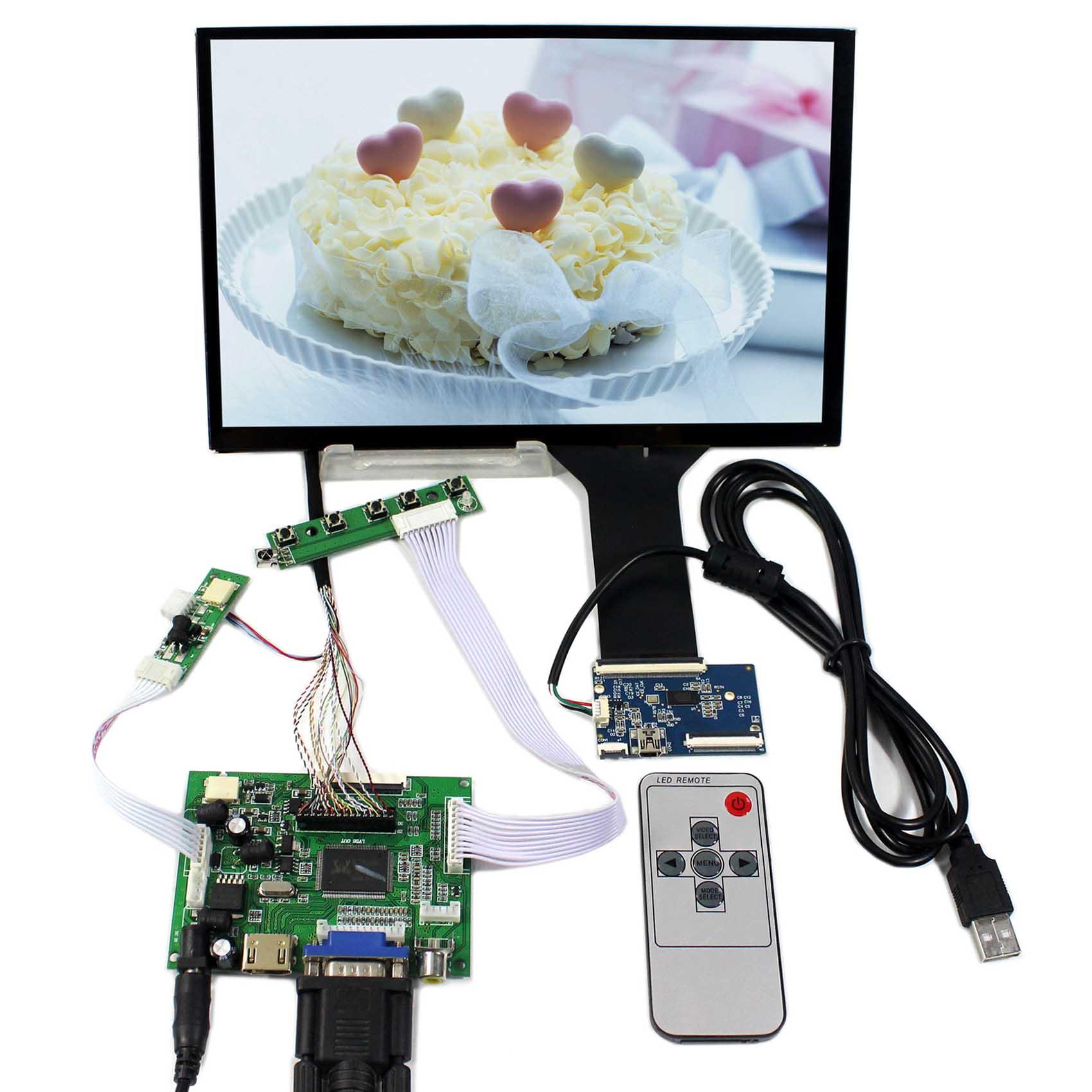 HDMI VGA 2AV LCD Controller Board With 10.1inch 1920x1200 B101UAN02.1 AHAV LCD ScreenHDMI VGA 2AV LCD Controller Board With 10.1inch 1920x1200 B101UAN02.1 AHAV LCD Screen