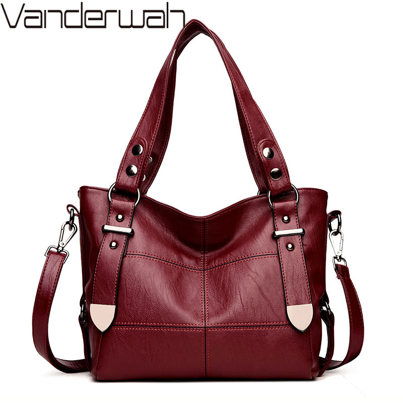 Luxury Handbags Women Bags Designer Handbags High Quality Women's Shoulder Bag Pu Leather Women Big Bag Casual Tote Sac A Main luxury handbags women bags designer handbags high quality pu leather bag famous brand retro shoulder bag rivet sac a main