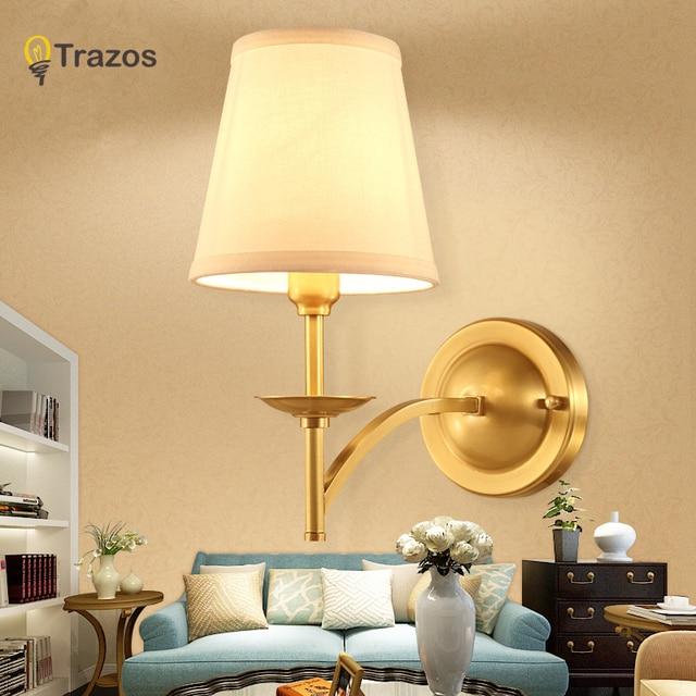 Extrêmement Applique Murale en cuivre Applique E27 mur Lampe Moderne pour  FO56