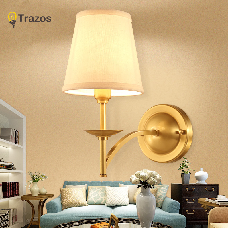 Copper Wall Light  Sconce E27 wall Lamp Modern for Bedroom Dinning Room Restroom Hotel Home Decoration Mounted Lamps led wall lights acrylic modern living room bedroom home decoration wall lamp for bedside bedroom restroom wall mounted wall lamp