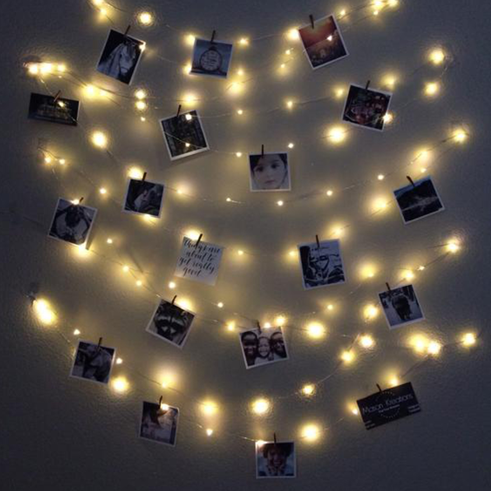 Photo Clip USB LED String Lights Fairy Lights Outdoor Battery Operated Garland Christmas Decoration Party Wedding Xmas (11)