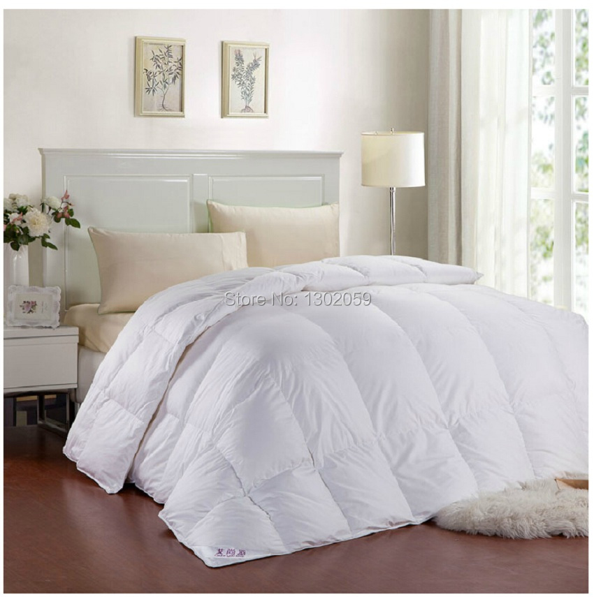 Winter 260 GSM Whites Goose Down Doona Blanket King Queen Full Twin Or Make Any Size Free Shippingtwin sizeblanket with sleeves kidsblanket pile -