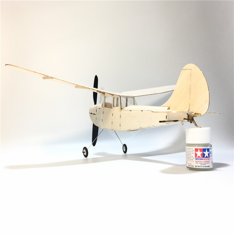 MinimumRC Cessna L-19 460mm Wingspan Balsa Wood Laser Cut RC Airplane KIT