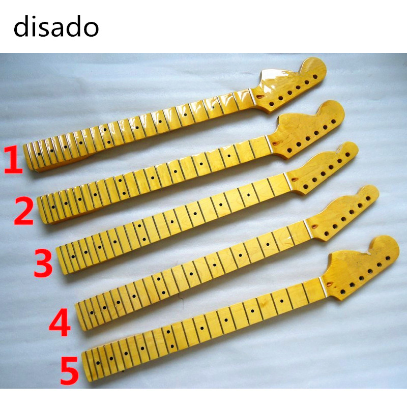 disado 22 Frets inlay dots Reverse Electric Guitar Neck Wholesale Guitar Parts guitarra musical instruments accessories two way regulating lever acoustic classical electric guitar neck truss rod adjustment core guitar parts
