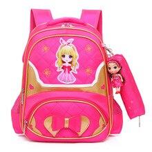цена на children princess backpacks children school bags girls primary school backpacks kids orthopedic schoolbags backpacks sac enfant