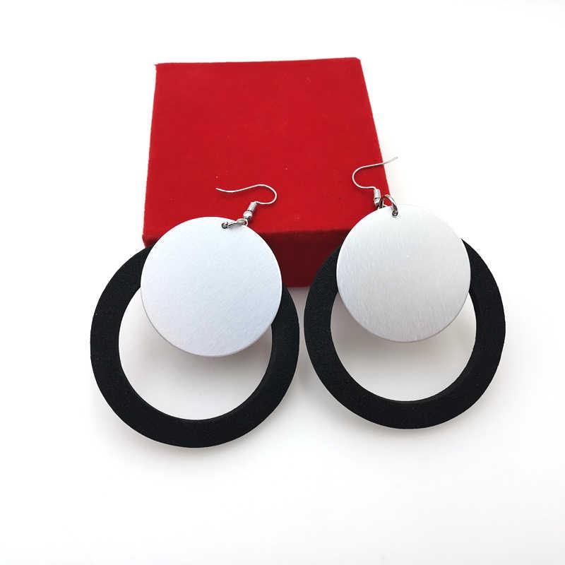 YD & YDBZ nowy projektant ręcznie robione kolczyki kobiety upuść kolczyki para ozdoba na włącznik światła i miękki kolczyk czarna guma duże akcesoria