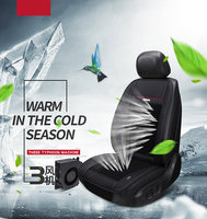 2018 sandwich electric air cooling temperture control cushion in summer nature wind Auto Universal car seat cover with big fan