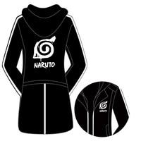 Winter Mens Naruto thicken Windbreaker jacket Harajuku anime Naruto Akatsuki cosplay thick Trench coat Male hooded Cloak 101806