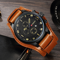CURREN Date Men Watch Top Luxury Brand Sport Army Military Casual Male Clock Leather Band Wrist
