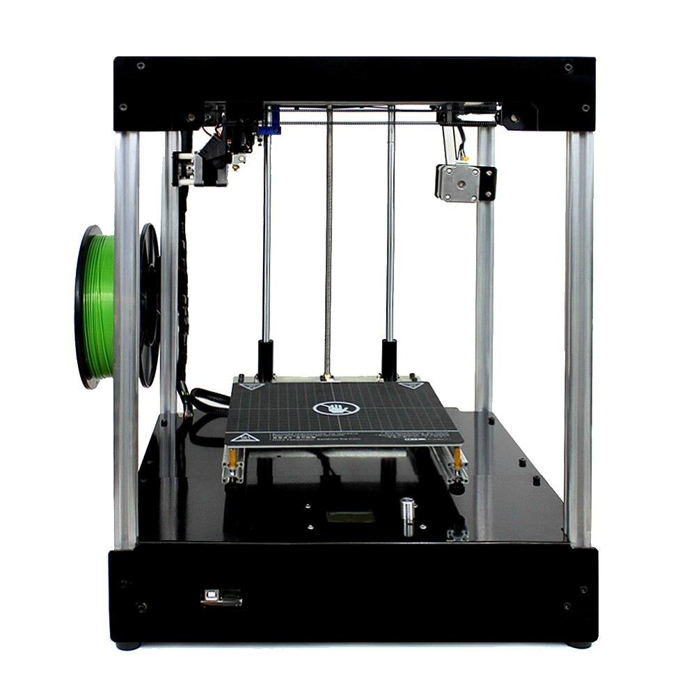 2019 bricolage New Cross Structure 3d imprimante 360 W puissance HD écran FDM kit imprimante structure en aluminium magnétique Breveté chaude lit