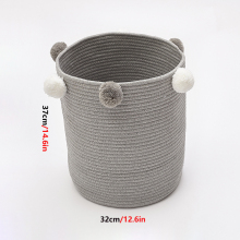 Хлопковая нить тканая корзина для хранения одежды удобный и практичный органайзер для одежды игрушки и художественные материалы