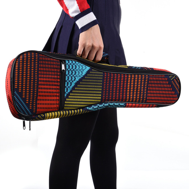 Patchwork Style Ukulele Bags with Handles