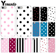 Yinuoda Polka dot pattern DIY Painted Beautiful Phone Accessories Case for Apple iPhone 8 7 6 6S Plus X XS MAX 5 5S SE XR Cover