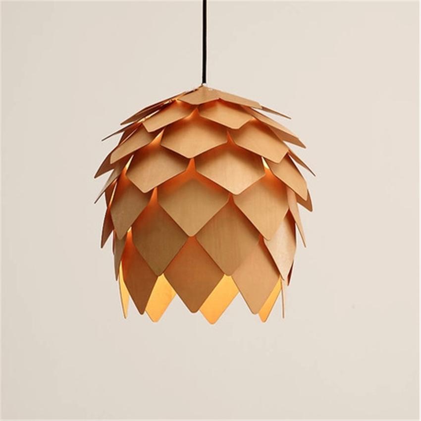 LFH Moderne Nordic Holz Pendelleuchte Pinienkernen Pendelleuchten Fr Wohnzimmer Esszimmer Kche Heim Beleuchtung Decor