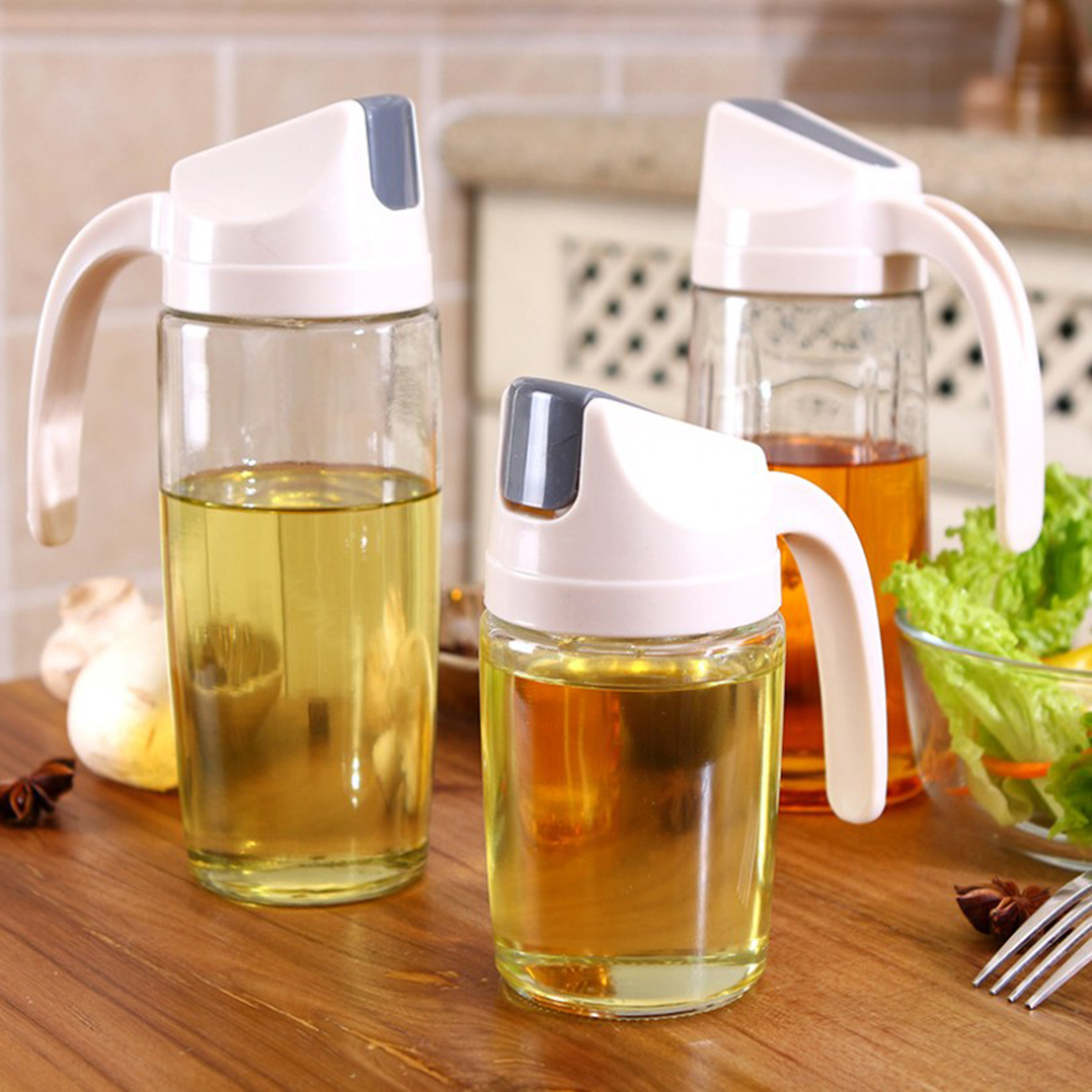 Glass Dispenser Kitchen Accessories Leak Proof Automatic Non Slip Oil Bottle