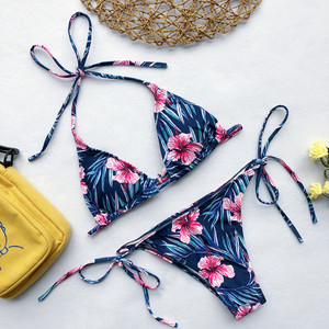 Image 4 - Bikini Swimsuit Swimwear Women Brazilian Bikini Set 2020 Print Bikinis Low Waist Bathing Suit Beach Wear Maillot De Bain Biquini