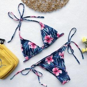 Image 4 - Strój kąpielowy Bikini stroje kąpielowe kobiety brazylijski Bikini Set 2020 drukuj Bikini niskiej talii strój kąpielowy Bikini Maillot De Bain Biquini