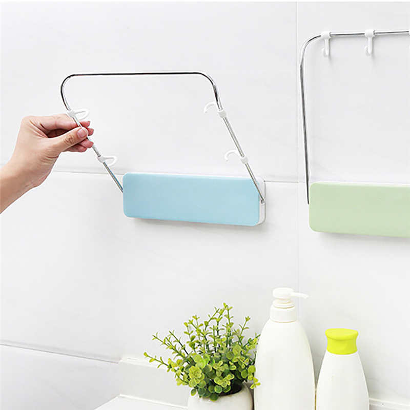 Image 5 - New listing High Quality Kitchen Storage Rack Folding Washbasin Stand Wall Mounted Washbasin Storage Rack Organizer Holder-in Racks & Holders from Home & Garden