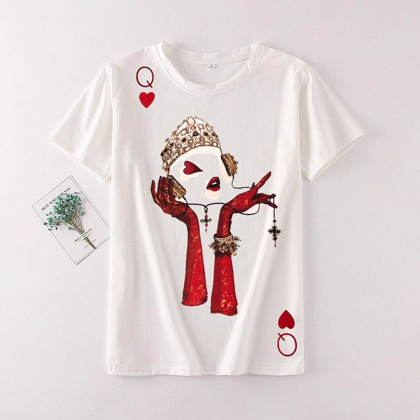 fbb0034f9 Zuolunouba Streetwear Cotton Summer Tees Tops Female Fashion Red Heart  Listen Harajuku Girl Short Sleeve T