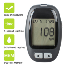 High Quality Blood Glucose monitoring System Blood Sugar Test Meter Kit With Strips & Lancets Case Home Health Care Glucometer