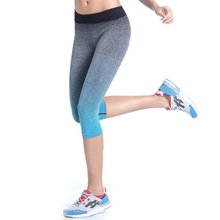 Cropped athletic stretch yoga gym trousers leggings fitness sport pants