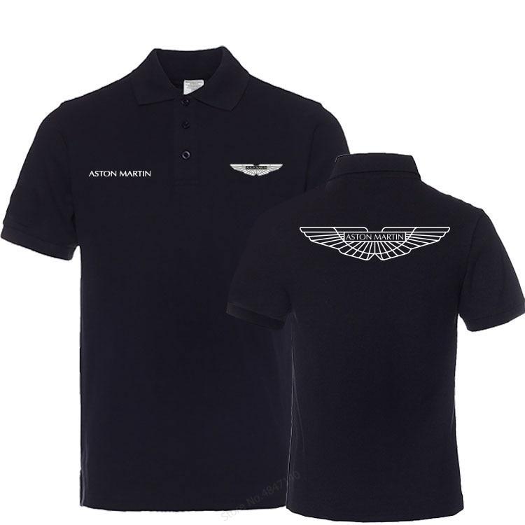 Summer Brand Men Cotton Turn-down Collar Aston Martin Polo Shirt Business Tops Polo Shirts