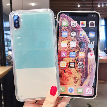 N on luminoso Areia Caso cor S lida para iPhone XR XS max X 6 7