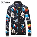 2017 new arrival spring printed casual jacket men .summer jacket men