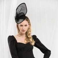 Lady Fedoras Hats Girls New Designer's Party Cap Female British Brilliant Headwear Little Top Hat Party Dress Hats Adjust A37