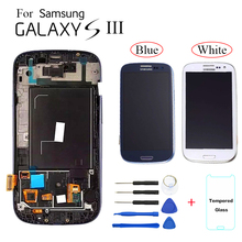 AMOLED For Samsung Galaxy S3 I9300 LCD Display Screen replacement for Samsung S3 i9300 display lcd screen module with frame