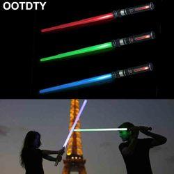 New Telescopic Lightsaber Toys Flashing Sword Cosplay Luminous Music Star Laser Toy Swords Kids Toy Boys Gift