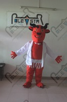 Злой монстр быка талисман костюмы скелет head костюмы талисмана монстр костюмы характер костюм для партии