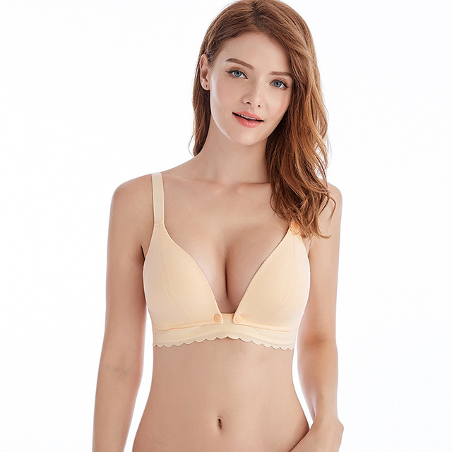 Maternity Nursing Bras Hot Wirefree Breastfeeding for Pregnant Women Front  Opening Pregnancy Feeding Bra Underwear Clothing f8b923b89