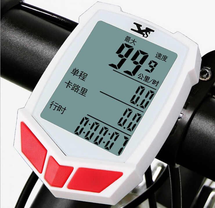 Bicicleta tabela de códigos de equitação acessórios 2 cores quilometragem em Inglês linha tabela de códigos com fio à prova d' água velocímetro luminosa