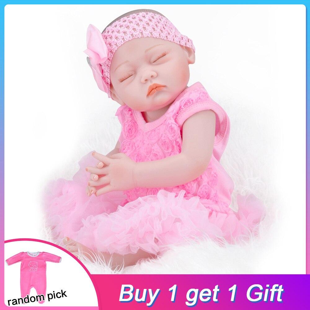 UCanaan 20 ''Reborn poupées dormir bébé vivant poupée Reborn Silicone réaliste poupées jouets pour fille meilleurs cadeaux d'anniversaire bonecas