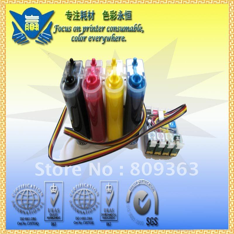 hot! free shipping! T1411-T1414 with pigment ink CISS Continuous Ink Supply System for EPSON ME32ME320