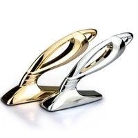 12 5x6 8cm Luxury JP Stand Logo On Hood Cover Zinc Alloy Car Styling Refitting Emblem