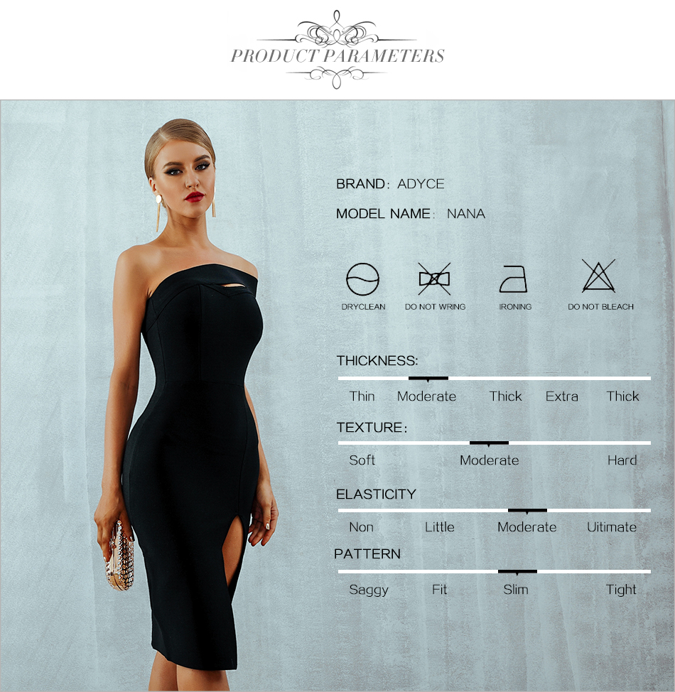 HTB1I15oEXuWBuNjSszbq6AS7FXau - Adyce White Bodycon Bandage Dress Women Vestidos Summer Sexy Elegant Black One Shoulder Midi Celebrity Runway Party Dresses