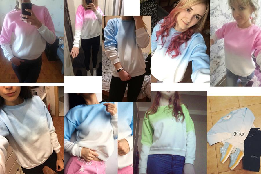 HTB1I164RVXXXXclXVXXq6xXFXXXt - Fleece Gradient Color Sweatshirt Women PTC 209
