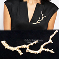 New Sepcial Runway Blogger Big Coral Tree Branch Lapel Party Brooch Scarf Hat Pin Badge Gift Gold Silver Cosplay Badge