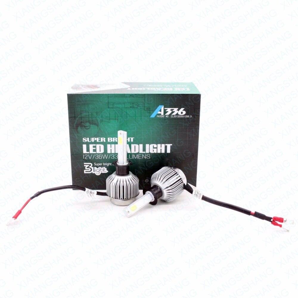 XIANGSHANG haute puissance Hi/Lo H1 LED phare de voiture 36 W 3300LM moto ampoule kit de Conversion de phare faisceau conduite lampe de phare