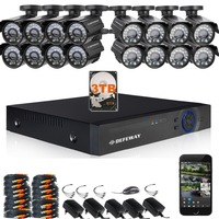 DEFEWAY 1200TVL 720P HD Outdoor CCTV Security Camera System 1080N Home Video Surveillance DVR Kit 3TB